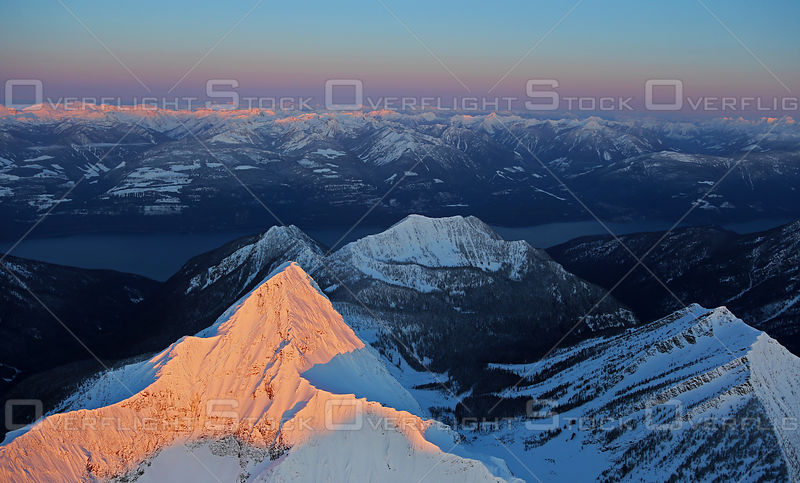 Mount Loki and Kaslo Sunrise Kootenays BC