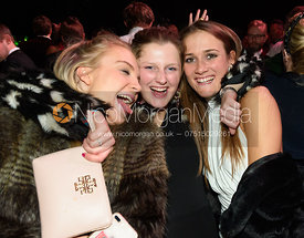 Elly Broughton, Hermione Brooksbank, Isobel McEuen. The Quorn Hunt Ball