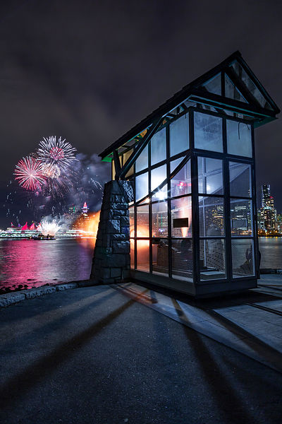 Vancouver's Nine O'Clock Gun and New Years Fireworks