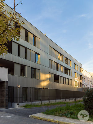 Residencial building by LEMEROU architecture etc., Cergy Pontoise, France.