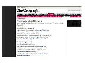 The Telegraph Website of the week.