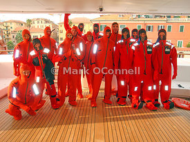 Princess Mariana crew sea survival training