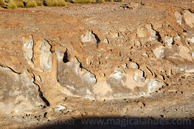 Detail of erosion on surface of volcanic lava flow, Nor Lípez Province, Bolivia