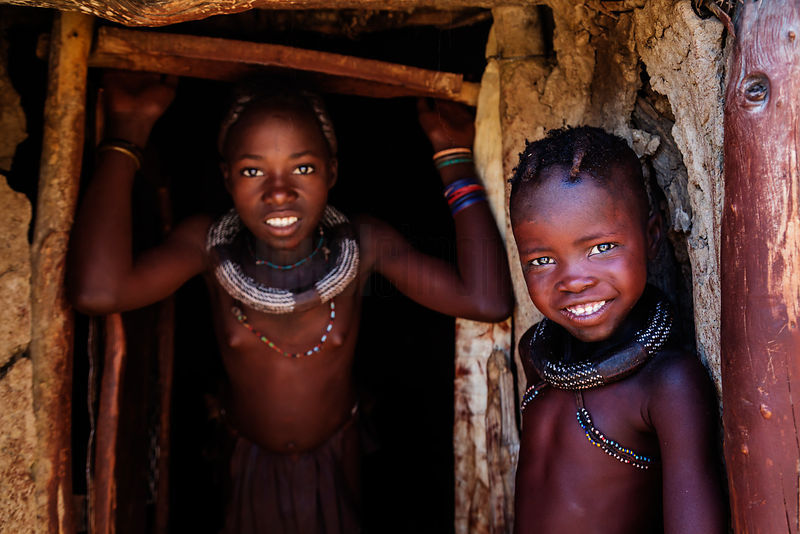 Portrait of Young Himba Girls