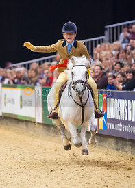 Scarlett Worrow and Silver Fox II, 138cms Working Hunter Pony Class, Horse of the Year Show 2010