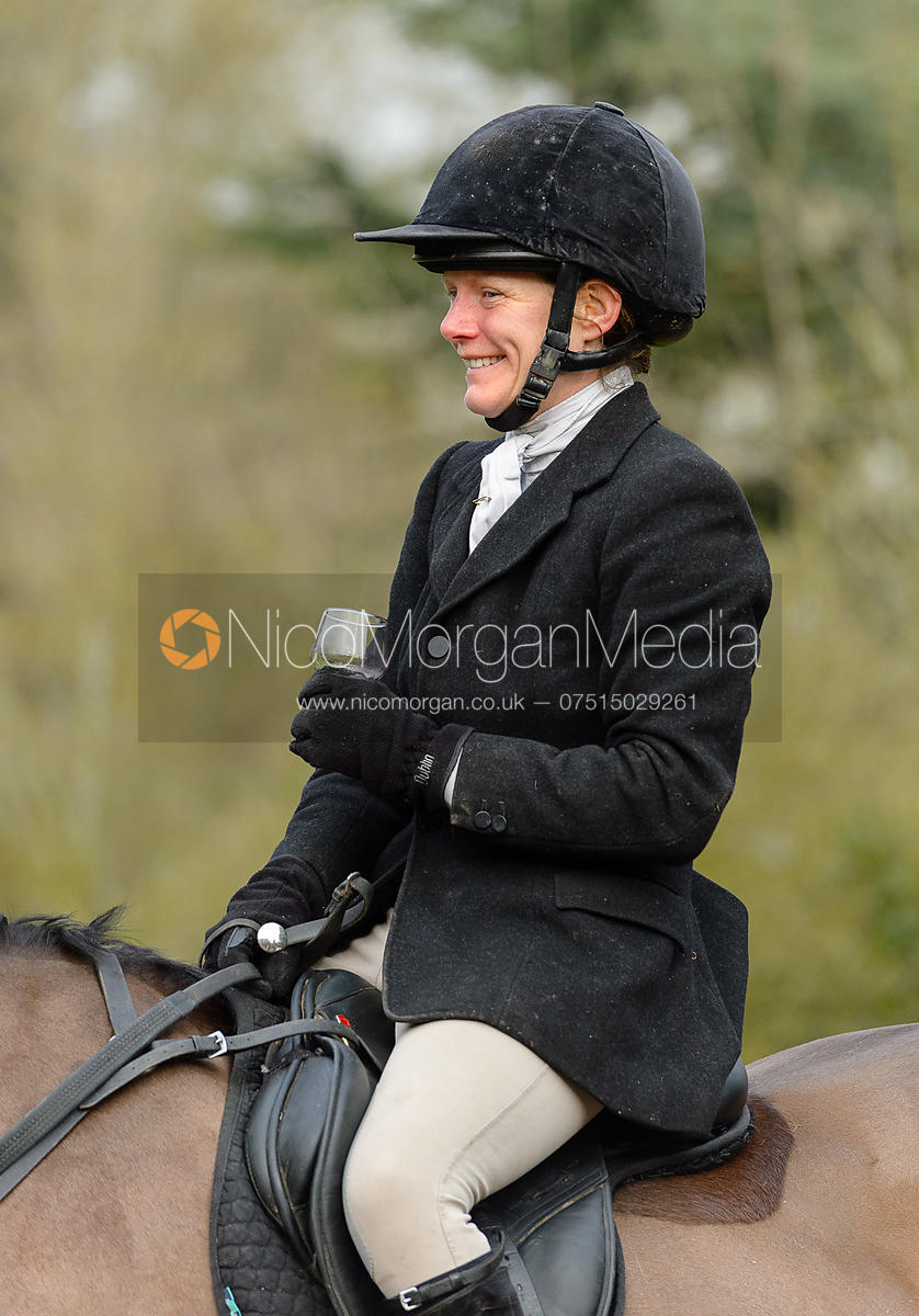 Alice Robb at the Cottesmore Hunt meet at Little Dalby Hall