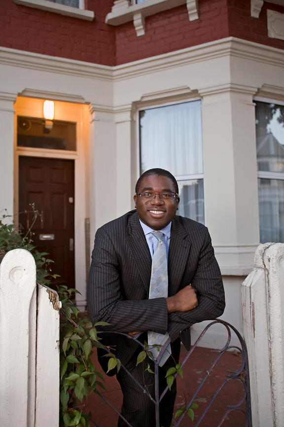 UK - London - David Lammy MP outside his old family home in Tottenham