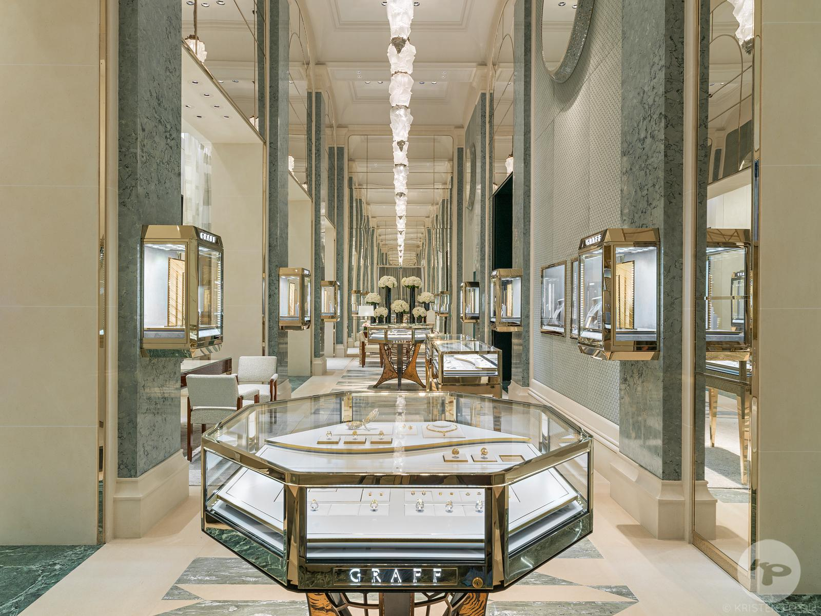 Retail architecture photographer Paris - GRAFF DIAMONDS SAINT HONORE PARIS