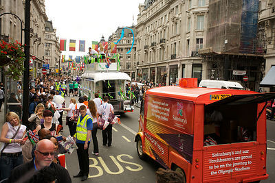 Paralympic Sponsor Vehicles in Central London