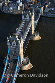 Aerial photograph of Tower Bridge