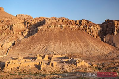 Flaming mountains near Turpan, at sunset, Xinjiang, China
