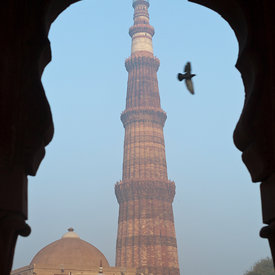 The Qutb Minar, Delhi, India.