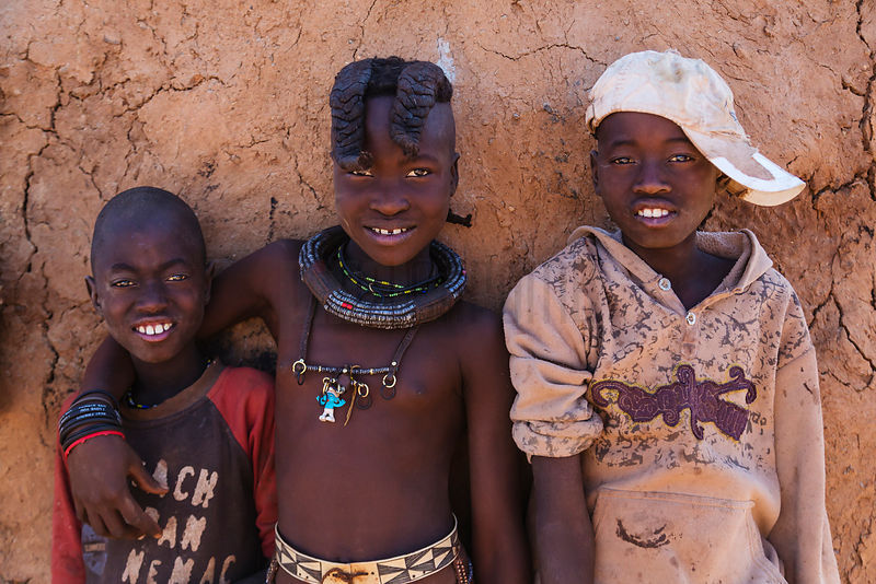 Portrait of Himba Children