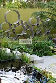 Contemporary garden, Digital, Trellis, Tropical garden