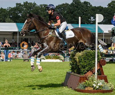 Ben Hobday and HARELAW WIZARD, cross country phase, Land Rover Burghley Horse Trials 2018