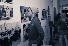 hanging art photography from  Art All Night (Nuit Blanche) DC 2014 (presented by Gallery O on H, https://www.facebook.com/Gal...
