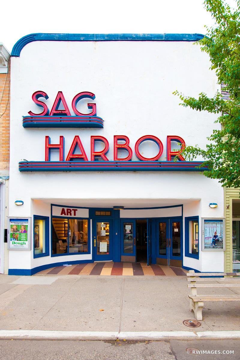 OLD SAG HARBOR MOVIE THEATER SAG HARBOR LONG ISLAND NY VERTICAL COLOR