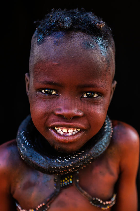 Portrait of a Young Himba Child