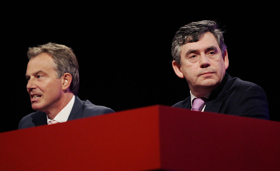 Tony Blair and Gordon Brown at the 2006 Labour Party Conference
