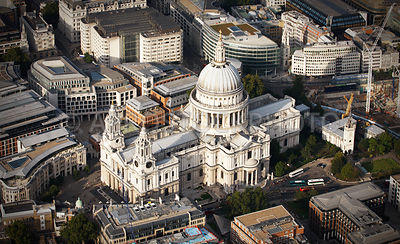 St Pauls Cathedral, London, England UK, was constructed between 1675 to 1710.