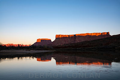 Colorado River reflection, Moab, UT