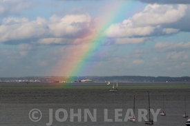 Rainbow over the Solent.