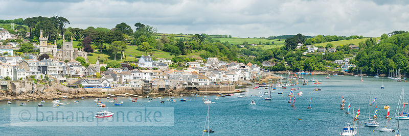 Panoramic view of Fowey - BP6055