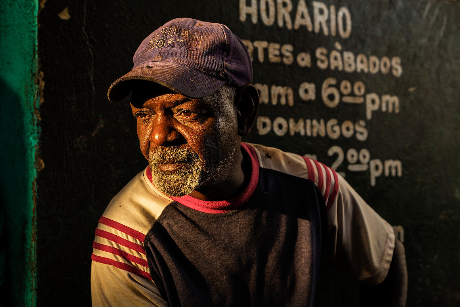 Portrait of a Worker at a Havana Vegetable Market