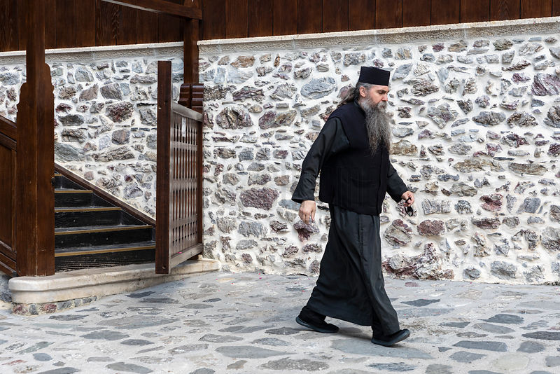 Monk from the St John the Baptist Monastery