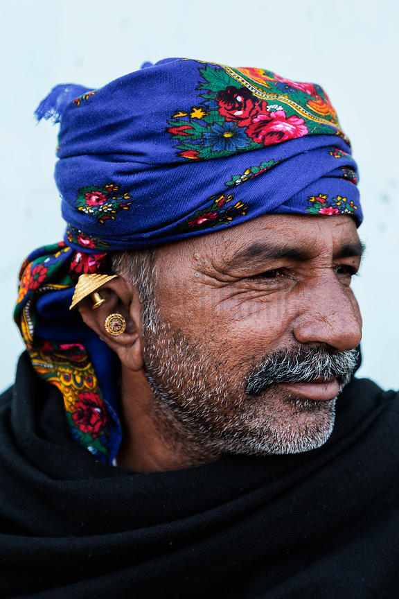 Portrait of a Man from the Bharwad Tribe