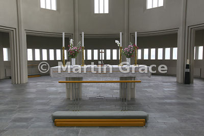 Altar of Hallgrimskirkja, Reykjavik's memorial church, consecrated in 1986