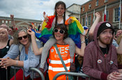 23rd May, 2015.Dublin Castle, where the official result of the Marriage Equality Referendum (Thirty-fourth Amendment of the C...