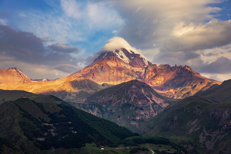 Mt Kazbegi at Sunrise