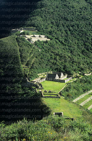View of main part of Inca site of Choquequirao, Peru