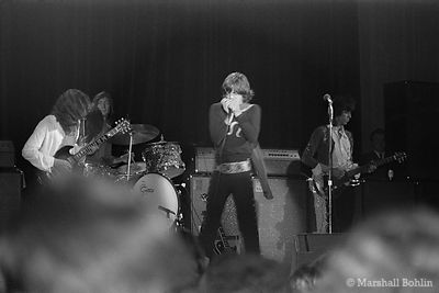The Rolling Stones in 1969 at the Chicago International Amphitheater