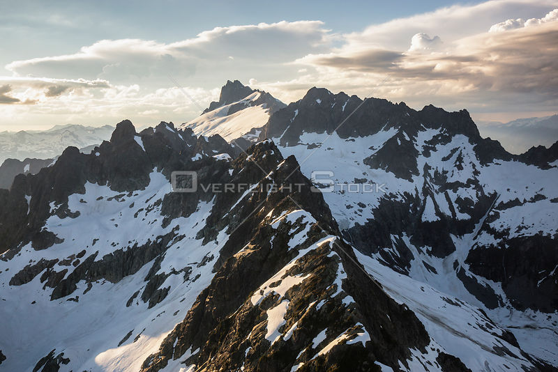 Scenic British Columbia Coastal Mountains During Sunset