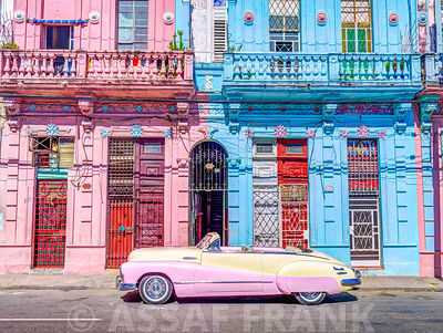 Vintage car on street of Havana, Cuba