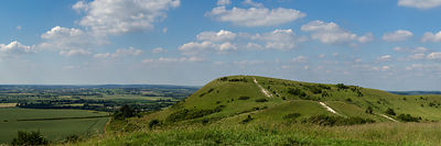 Ivinghoe Beacon panorama 3:1