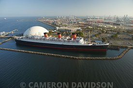 Aerial of the Queen Mary