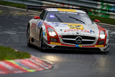 Schneider Bernd / .Bleekemolen Jeroen /  Edwards Sean /  Thiim Nicki - Black Falcon Mercedes-Benz SLS AMG GT3