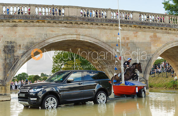 Denis Mesples and OREGON DE LA VIGNE - cross country phase,  Land Rover Burghley Horse Trials, 7th September 2013.