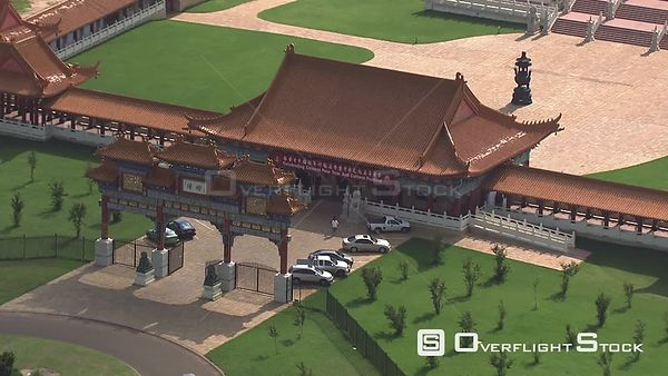 Aerial shot of the NanHua Temple Buddhist temple in Johannesburg Johannesburg Gauteng South Africa