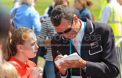 Mark Todd signing autographs - LOCOG Greenwich Park Invitational Olympic Test Event, London, July 2011