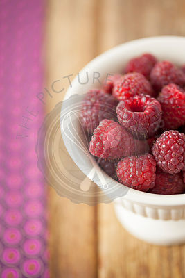 Autumn Bliss Raspberries in Bowl