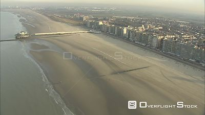 Flying above the coast of Belgium past Blankenberge