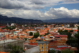 View over city from Loma de San Juan Mirador, Tarija, Bolivia