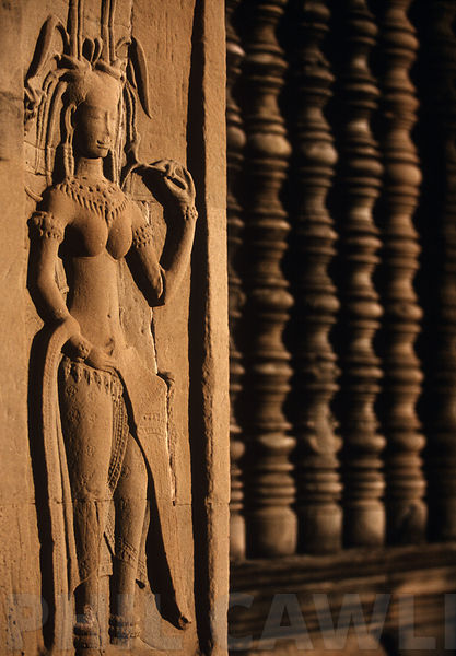 Carving at Angkor Wat Cambodia