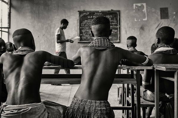 Children in a Classroom in Rural School