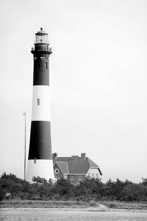 FIRE ISLAND LIGHTHOUSE FIRE ISLAND NEW YORK BLACK AND WHITE VERTICAL