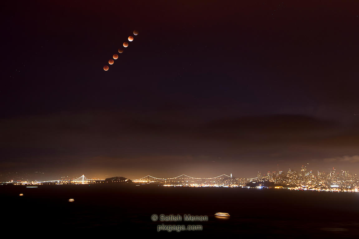 Supermoon Lunar Eclipse, 2015 (San Francisco, CA)